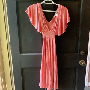 Salmon Urban Outfitters Lux Brand dress
